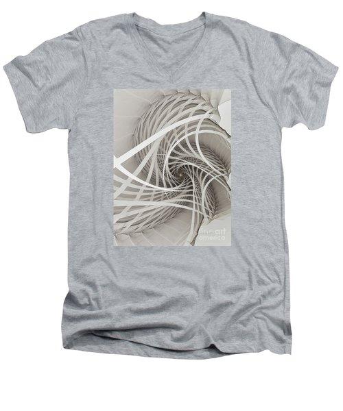 Suspension Bridge-fractal Art Men's V-Neck T-Shirt by Karin Kuhlmann