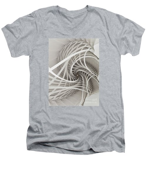 Suspension Bridge-fractal Art Men's V-Neck T-Shirt