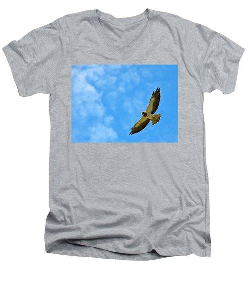 Swainson's Hawk Snake River Birds Of Prey Natural Conservation Area Men's V-Neck T-Shirt