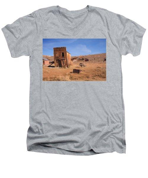 Swazey Hotel Bodie Ghost Town Men's V-Neck T-Shirt