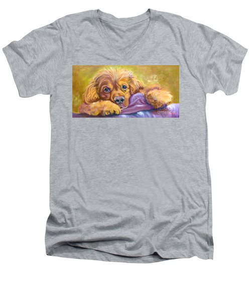 Sweet Boy Rescued Men's V-Neck T-Shirt
