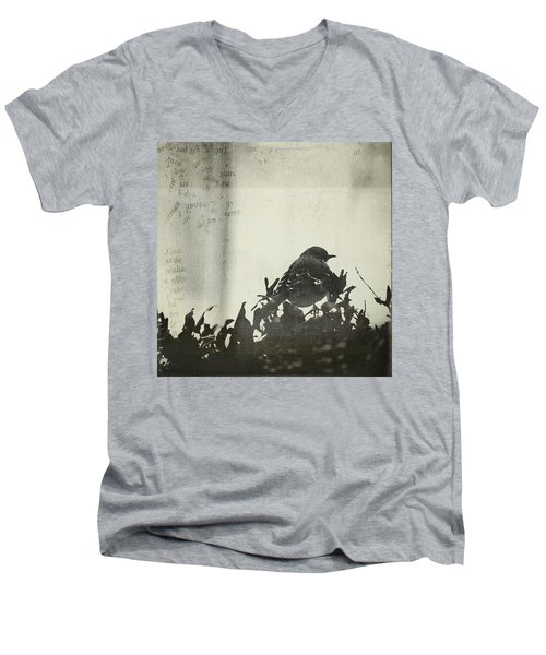 Men's V-Neck T-Shirt featuring the photograph Sweet Disposition by Trish Mistric