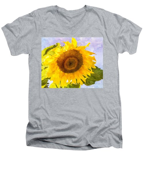 Sweet Sunflower Men's V-Neck T-Shirt