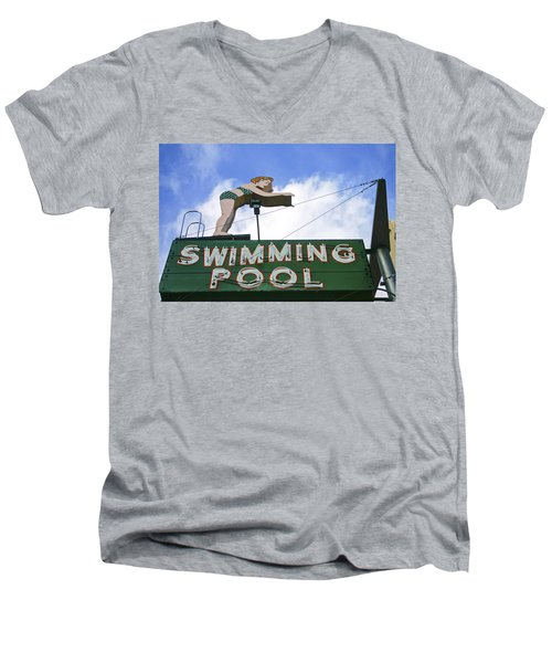 Swimming Pool Men's V-Neck T-Shirt