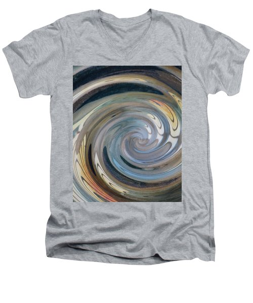 Men's V-Neck T-Shirt featuring the photograph Swirl by Diane Alexander