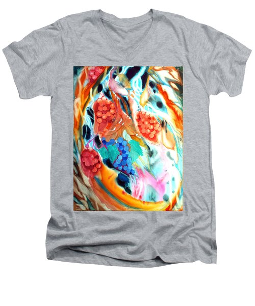 Swirling Grapes Men's V-Neck T-Shirt