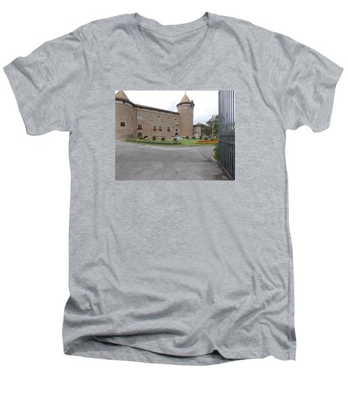 Swiss Castle Men's V-Neck T-Shirt
