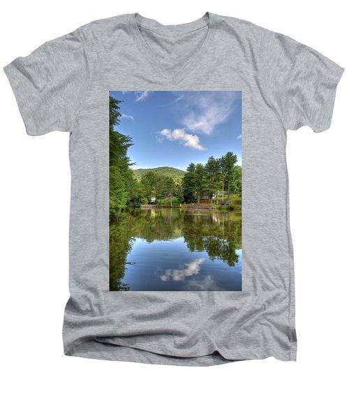 Swiss Mountain Lake Men's V-Neck T-Shirt