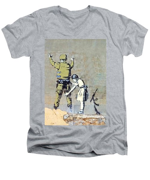 Switch Roles Men's V-Neck T-Shirt by Munir Alawi