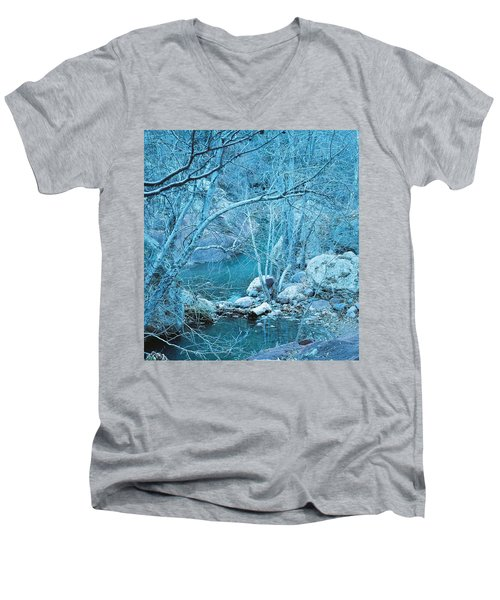 Sycamores And River Men's V-Neck T-Shirt