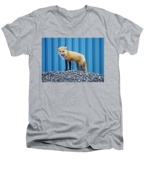 Sydney Fox Men's V-Neck T-Shirt by Jason Lees