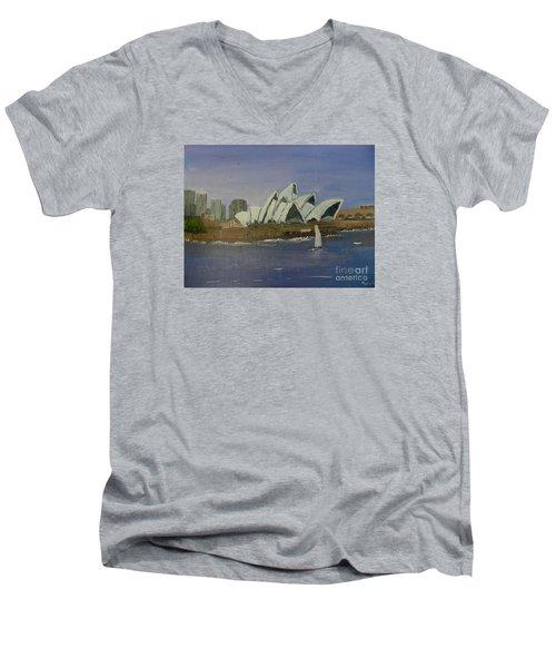 Sydney Opera House Men's V-Neck T-Shirt