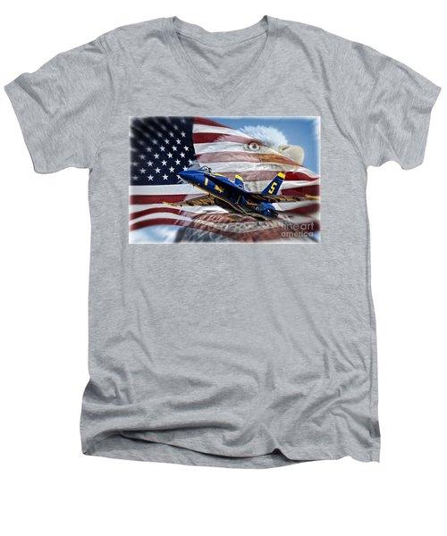 Symbols Men's V-Neck T-Shirt by Bob Hislop