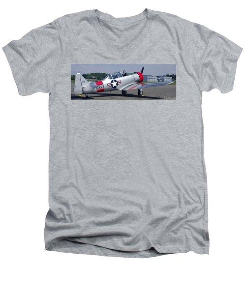 T 6 Navy Trainer Men's V-Neck T-Shirt by James C Thomas