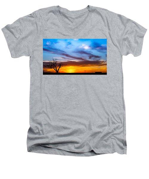 T For Texas  Men's V-Neck T-Shirt