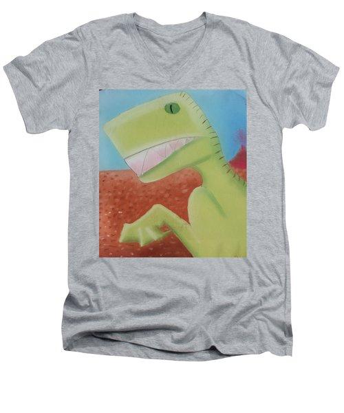 Dinoart Reptillian  Men's V-Neck T-Shirt by Joshua Maddison