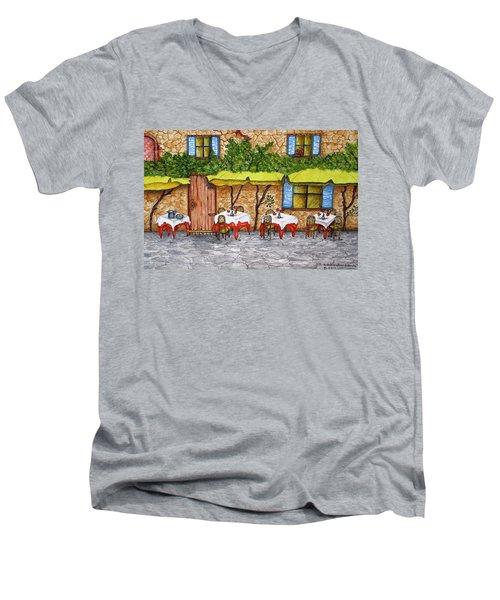 Table For Three Men's V-Neck T-Shirt