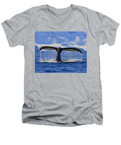 Tails From Antarctica Men's V-Neck T-Shirt
