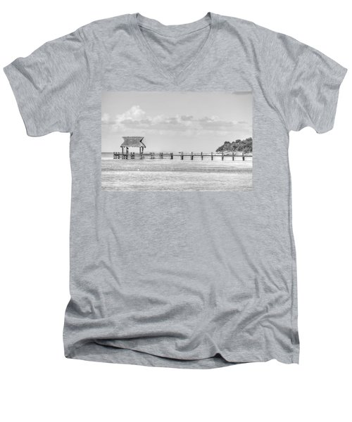 Take A Long Walk Off A Short Pier Men's V-Neck T-Shirt