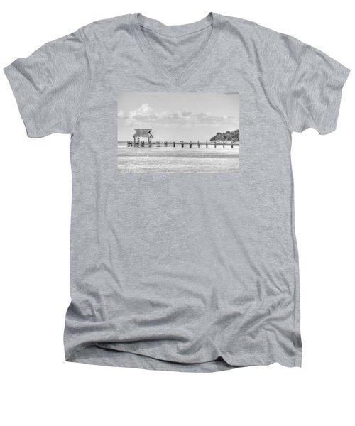 Take A Long Walk Off A Short Pier Men's V-Neck T-Shirt