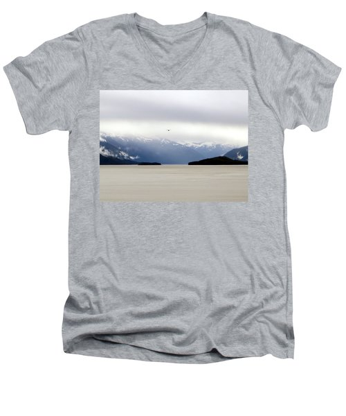 Men's V-Neck T-Shirt featuring the photograph Take Flight by Jennifer Wheatley Wolf