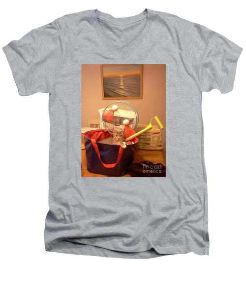 Take Me To The Beach Men's V-Neck T-Shirt by Stacy C Bottoms