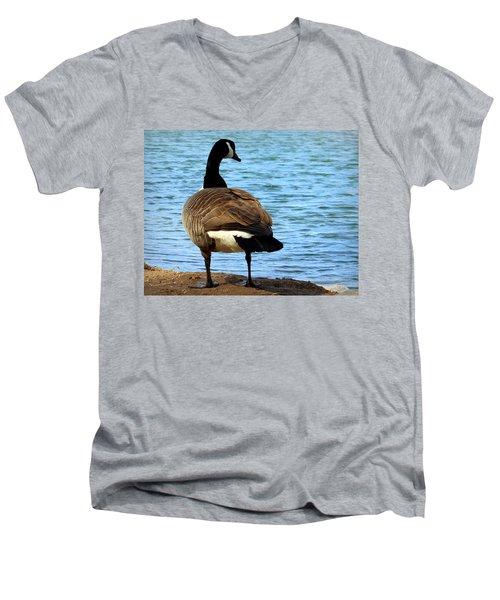 Take Me To The River Men's V-Neck T-Shirt by Joseph Skompski