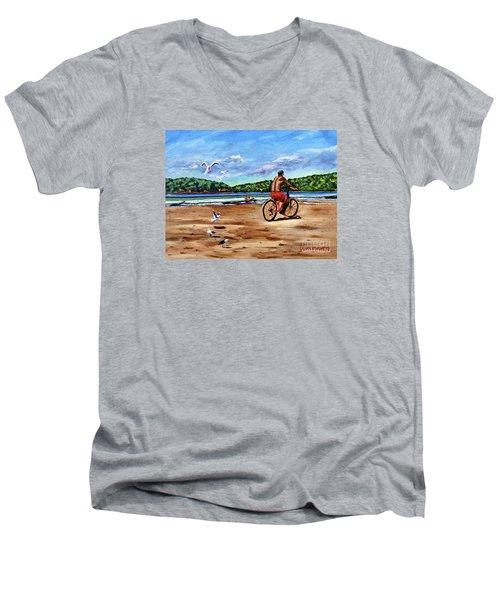 Taking A Ride  Men's V-Neck T-Shirt