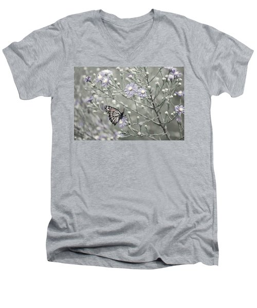 Taking Time To Smell The Flowers Men's V-Neck T-Shirt