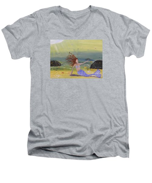 Talking To The Fishes Men's V-Neck T-Shirt