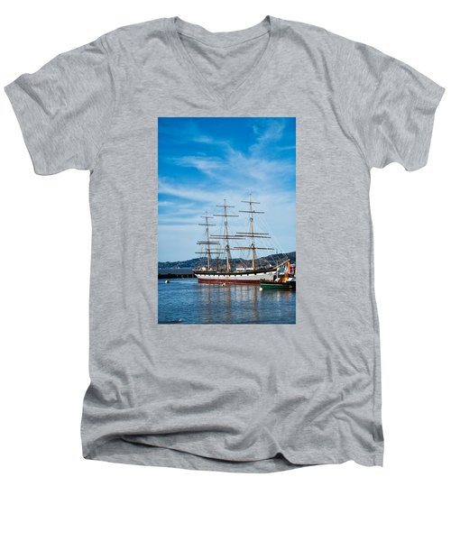 Tall Ship Balclutha San Francisco Men's V-Neck T-Shirt