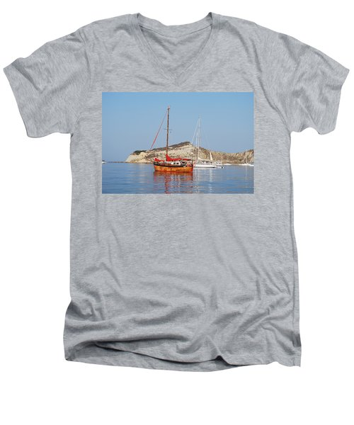 Tall Ship Men's V-Neck T-Shirt