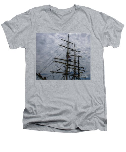 Sailing The Clouds Men's V-Neck T-Shirt by Dale Powell