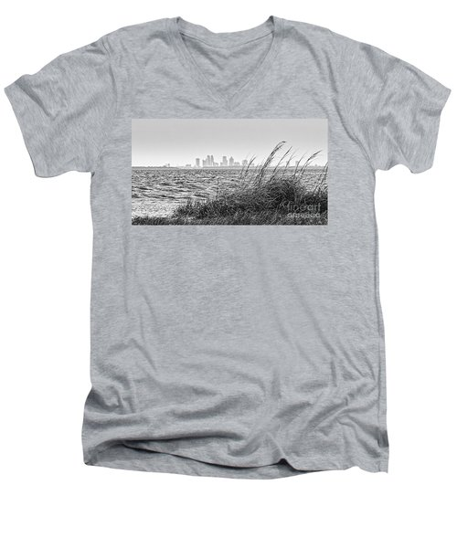 Tampa Across The Bay Men's V-Neck T-Shirt by Marvin Spates