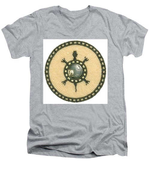 Tan Indian Turtle Men's V-Neck T-Shirt