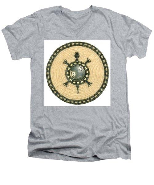 Tan Indian Turtle Men's V-Neck T-Shirt