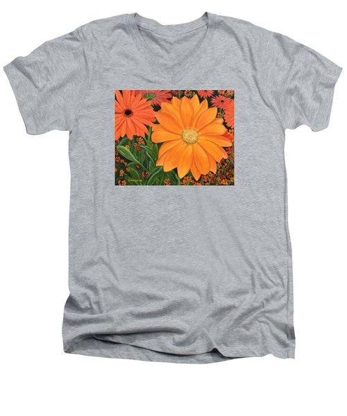 Tangerine Punch Men's V-Neck T-Shirt