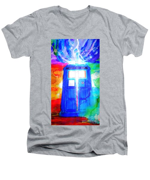 Tardis Men's V-Neck T-Shirt
