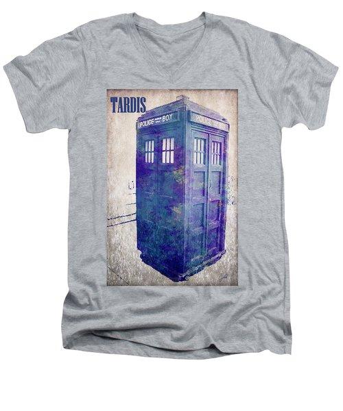 Tardis Men's V-Neck T-Shirt