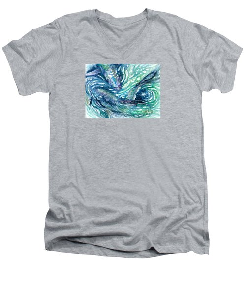 Tarpon Frenzy Men's V-Neck T-Shirt