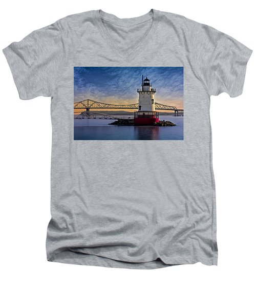 Tarrytown Light Men's V-Neck T-Shirt by Susan Candelario