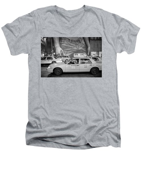 Taxis On Fifth Avenue Men's V-Neck T-Shirt