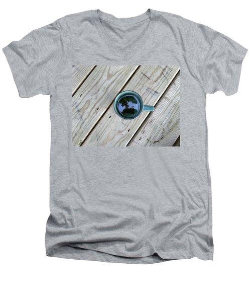 Tea Leaves Men's V-Neck T-Shirt by Lon Casler Bixby