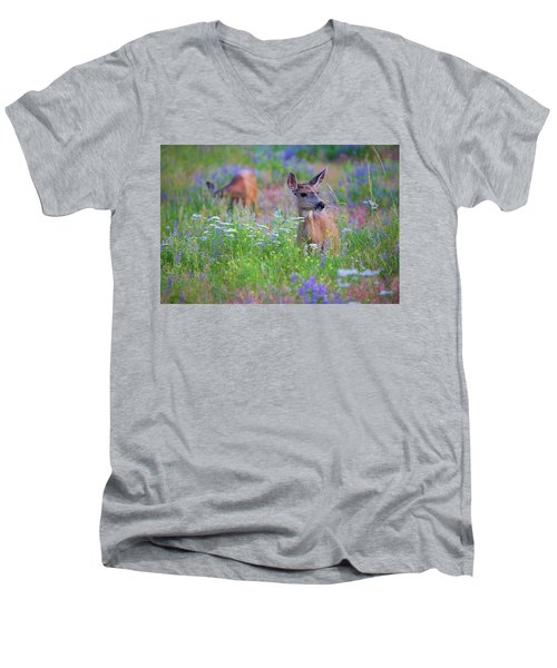 Tea Party Men's V-Neck T-Shirt by Jim Garrison