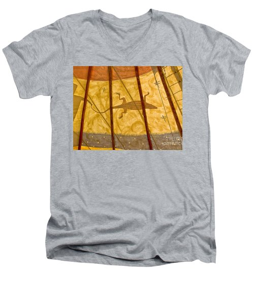 Tee  Pee Men's V-Neck T-Shirt by Gary Warnimont