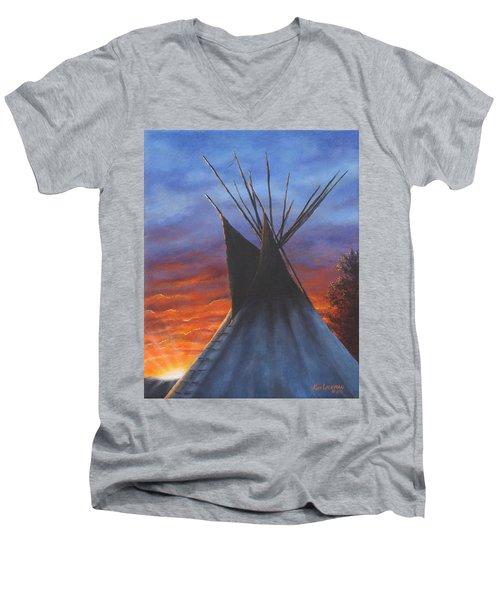 Teepee At Sunset Part 2 Men's V-Neck T-Shirt