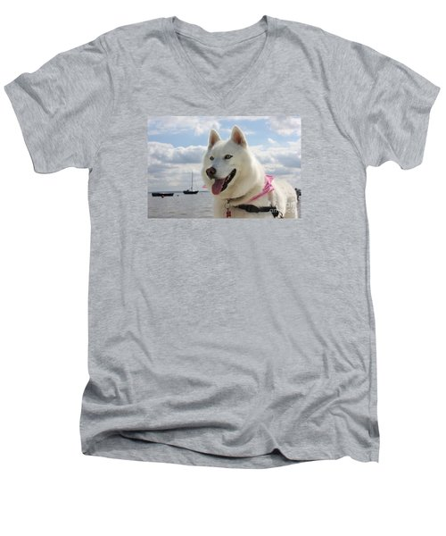 Men's V-Neck T-Shirt featuring the photograph Tehya by Vicki Spindler