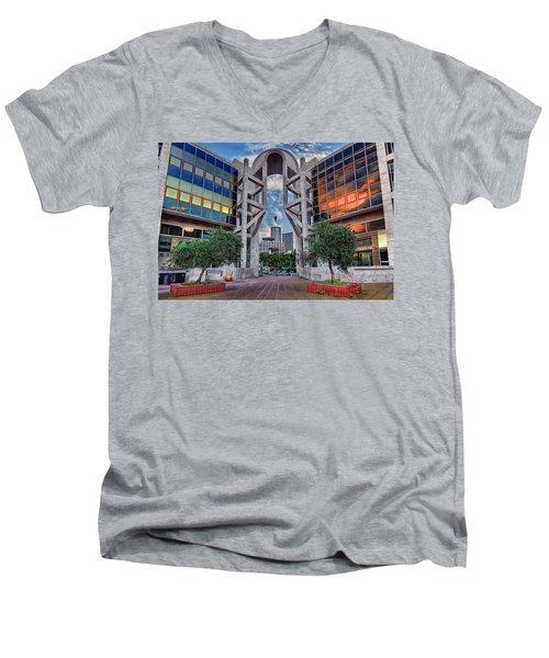Tel Aviv Performing Arts Center Men's V-Neck T-Shirt