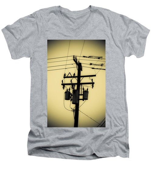 Telephone Pole 3 Men's V-Neck T-Shirt
