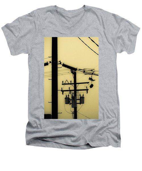 Telephone Pole And Sneakers 5 Men's V-Neck T-Shirt